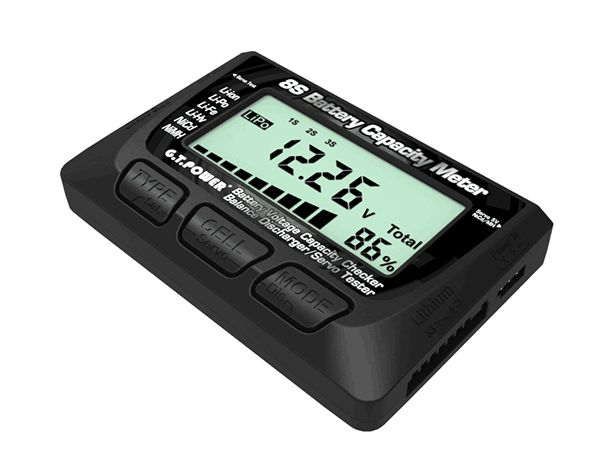 Gt Power 8s Battery Capacity Meter Battery Voltage